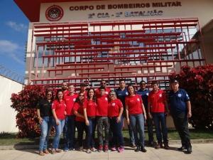 Visitas técnica ao corpo de bombeiros de Nova Venécia - Ecaph SMS Treinamentos e MonteVerde Cursos